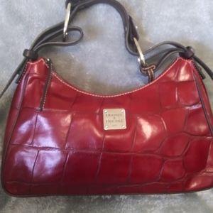 DOONEY & BOURKE Red Croc Embossed Burgundy Leather